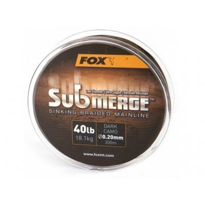 Fox Splétaná Šňůra Submerge Sinking Braided Mainline Camo 600 m Průměr 0,16 mm / 11,3kg