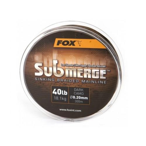 Fox Splétaná Šňůra Submerge Sinking Braided Mainline Camo 600 m Průměr 0,20 mm / 18,1kg