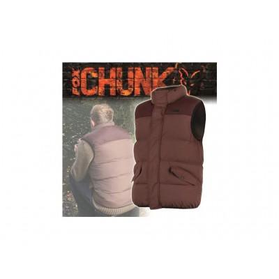 Fox CHUNK Body Warmer Khaki XXL prošívaná, teplá vesta : vel. XXXL