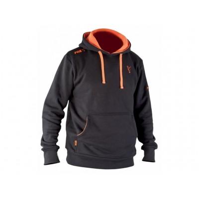 Fox Mikina Black/Orange Hoody : vel. XL