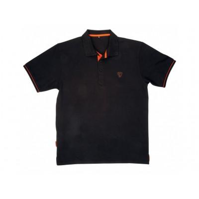 Fox Polokošile Polo Shirt Black/Orange : vel. M