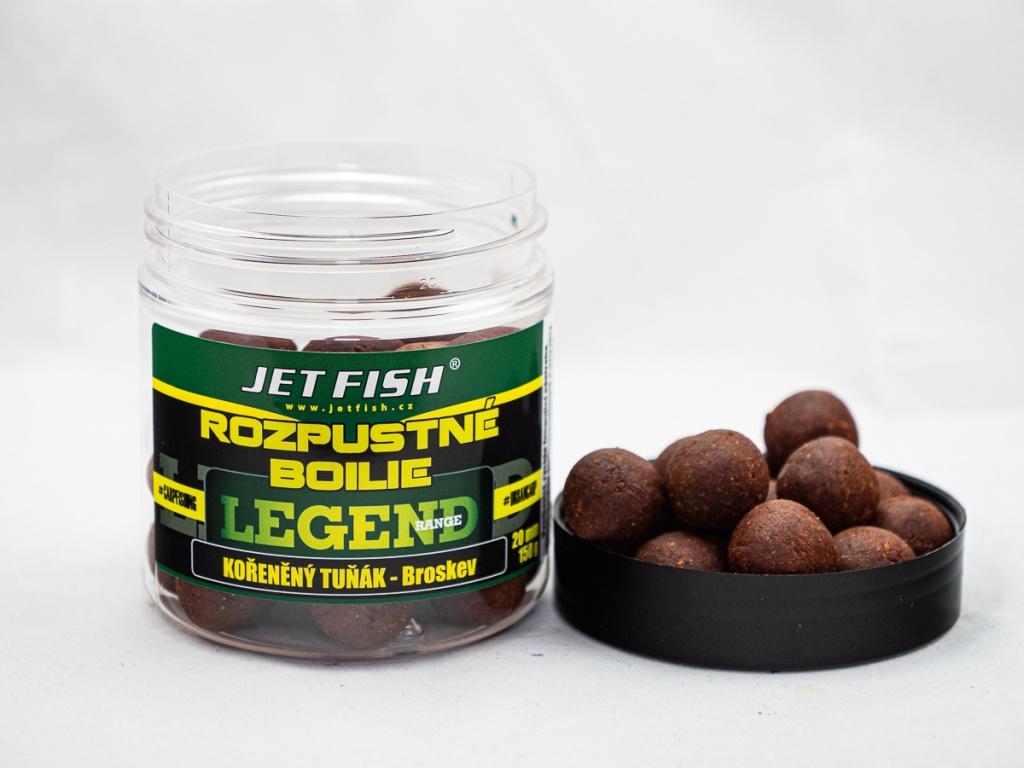 Rozpustné boilie JetFish Legend Range 250ml 20mm Protein Bird