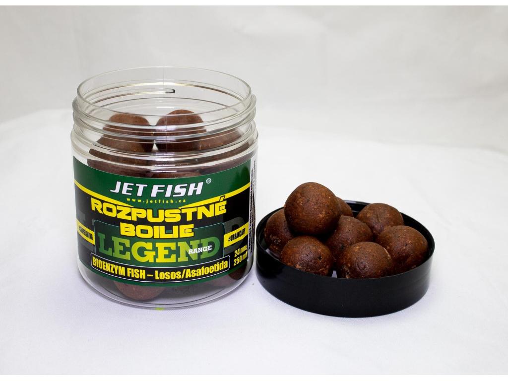 Rozpustné boilie JetFish Legend Range 250ml 24mm Bioenzym Fish/ASA