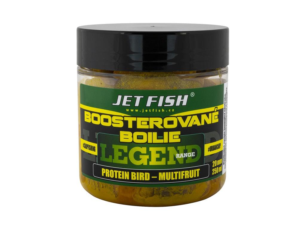 Boosterované boilie JetFish Legend Range 250ml 20mm Protein Bird