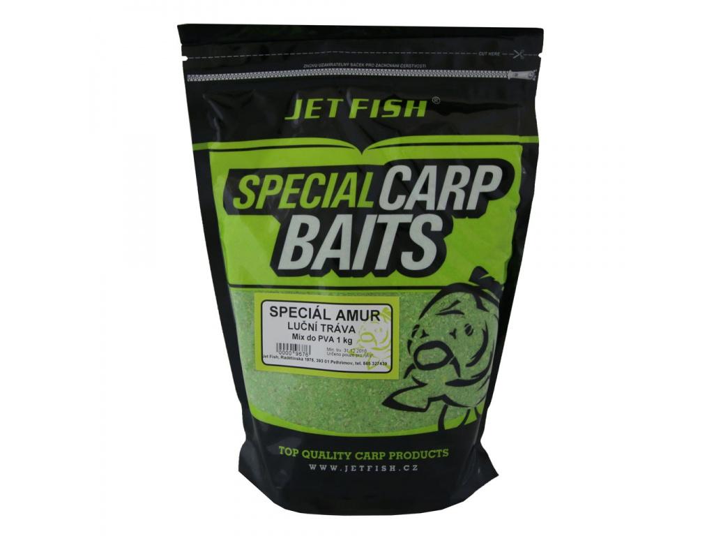 PVA mix JetFish Special amur 1kg Luční tráva