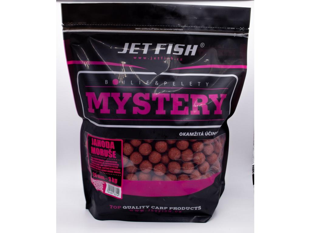Boilie JetFish Mystery 3kg 20mm Jahoda/Moruše AKCE 1+1 ZDARMA