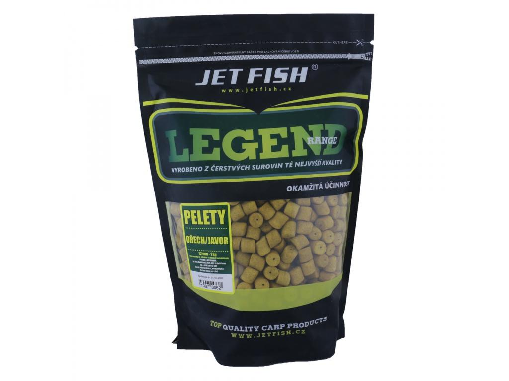 Pelety JetFish Legend Range 1kg 4mm Ořech/Javor