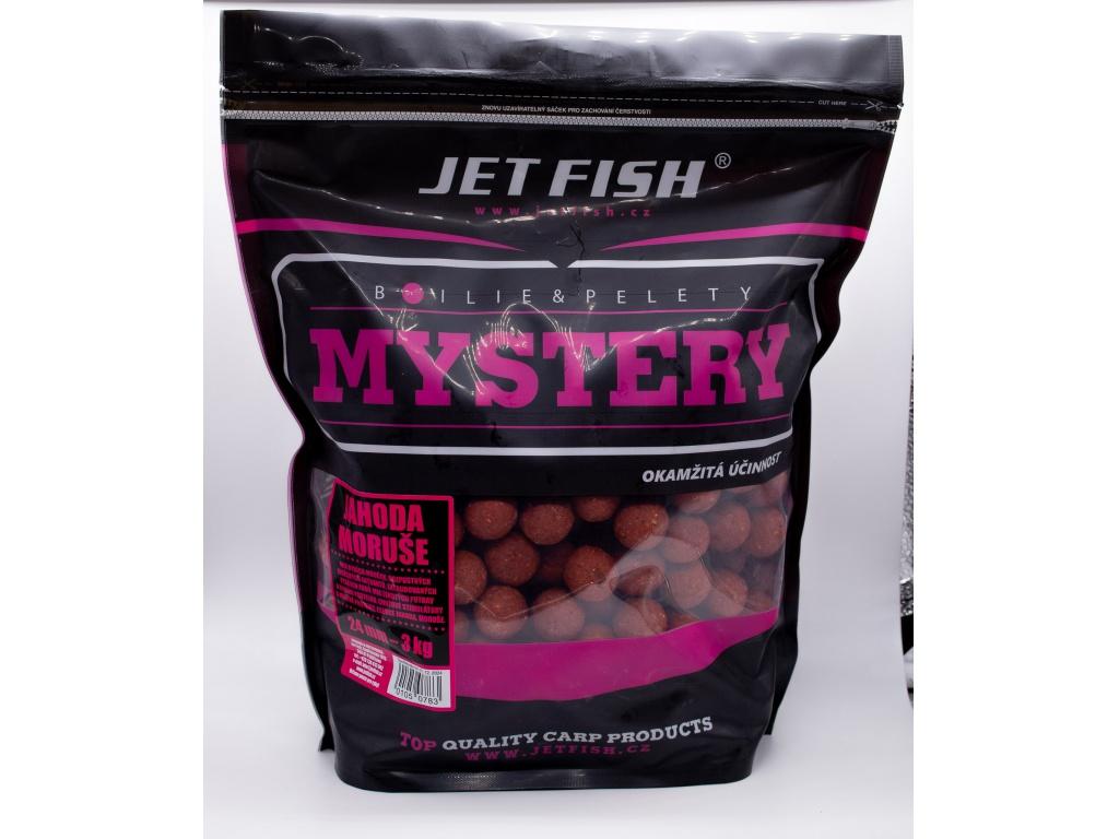 Boilie JetFish Mystery 3kg 24mm Jahoda/Moruše AKCE 1+1 ZDARMA