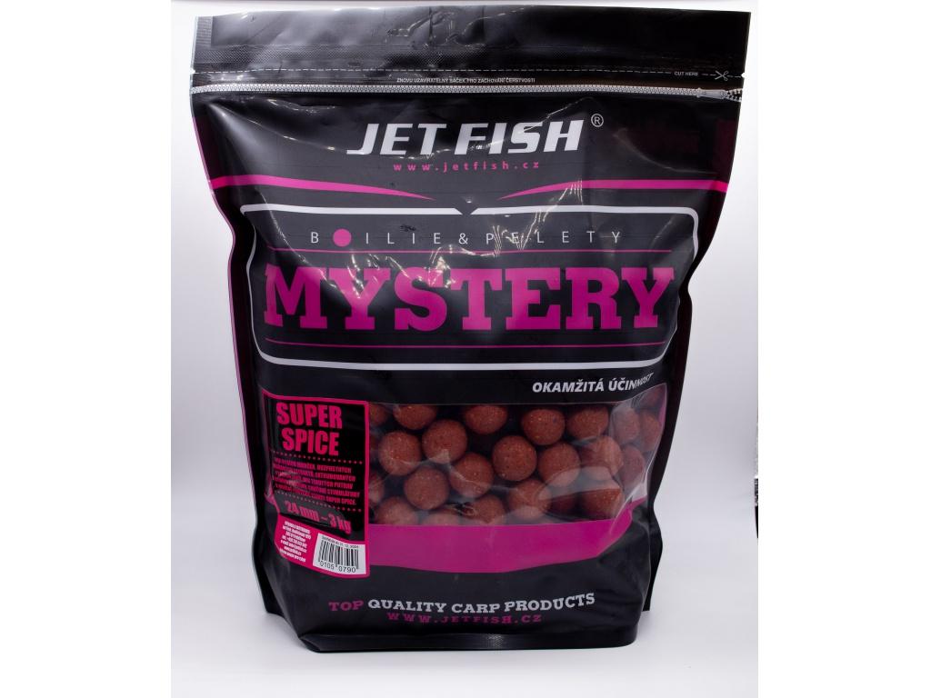 Boilie JetFish Mystery 3kg 24mm Super Spice AKCE 1+1 ZDARMA