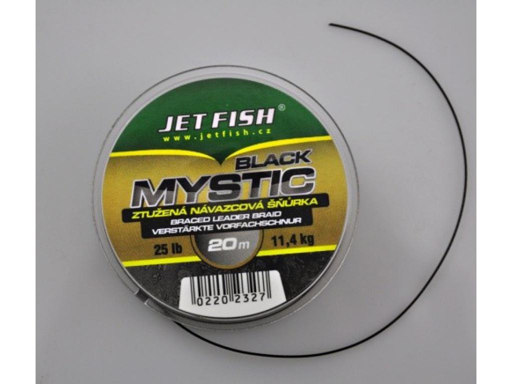 Návazcová šňůrka JetFish Black Mystic 25lb 20m